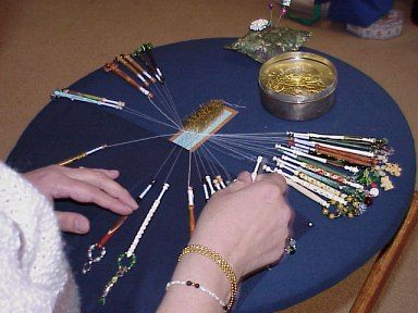 Beginners guide to bobbin lace making. For all its intricate and elegance, there are only two different movements of bobbins in the formation of the lace: the twist and the cross.... I will learn this!