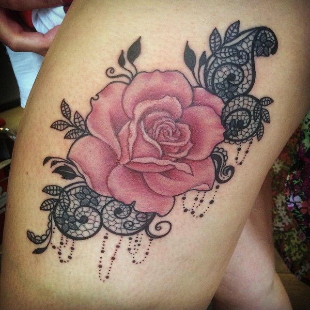 best 25 lace rose tattoos ideas on pinterest thigh piece rose lace and lace thigh tattoos. Black Bedroom Furniture Sets. Home Design Ideas