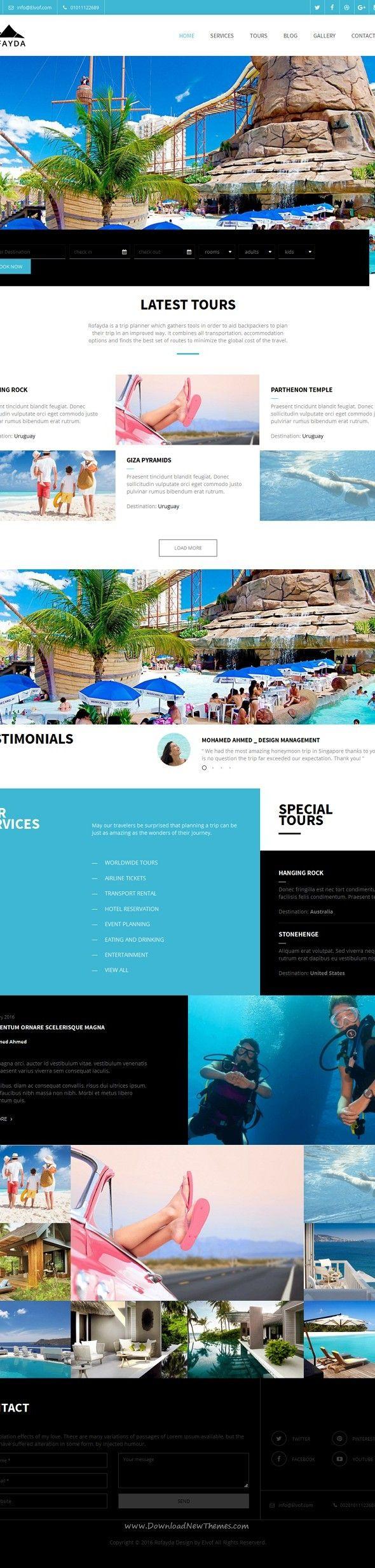 Rofayda Tours u0026 Travel HTML Template 8972