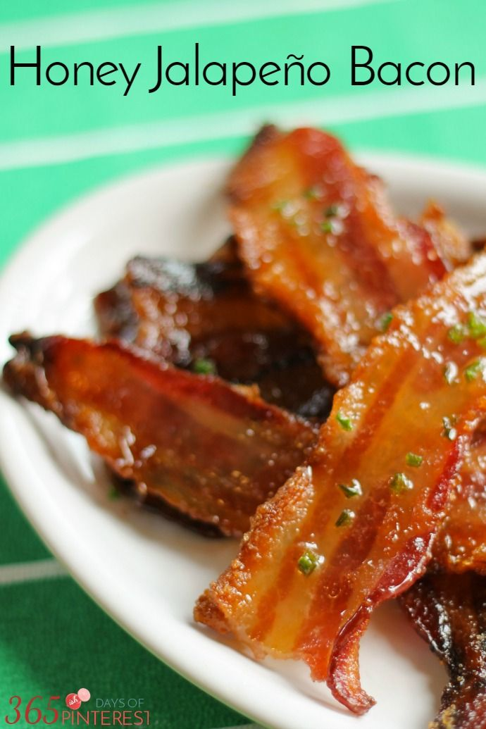 Sweet, smoky and spicy, Honey Jalapeno Bacon is the perfect snack for watching football. It's basically candy with protein. #FanFoodLeague ad bacon | appetizer | football | easy snack |