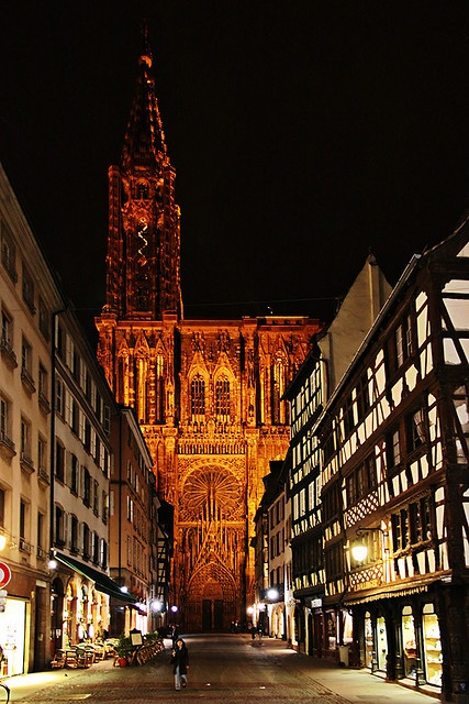 Strasbourg by night. Study Abroad option #2. La petite France :)
