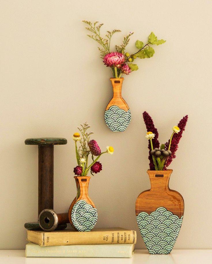 Pili Pala Pieces Teal Wave Vase - 2 sizes