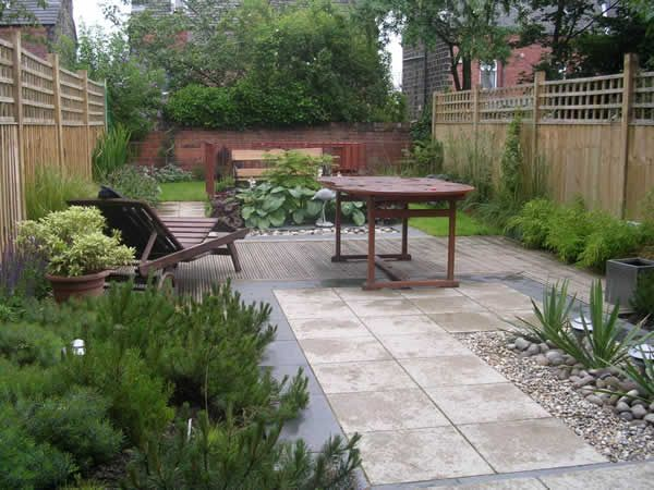 garden design for a long terrace garden outside leeds - Garden Design Terraced House