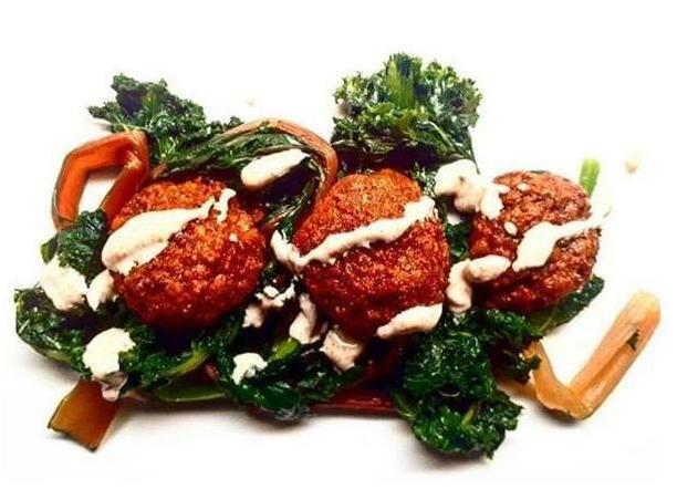 Cashew Cream with Lentil Balls Vegan Kissan International Dinner Vegetarian Easy Dinner