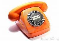 oranje oude telefoon