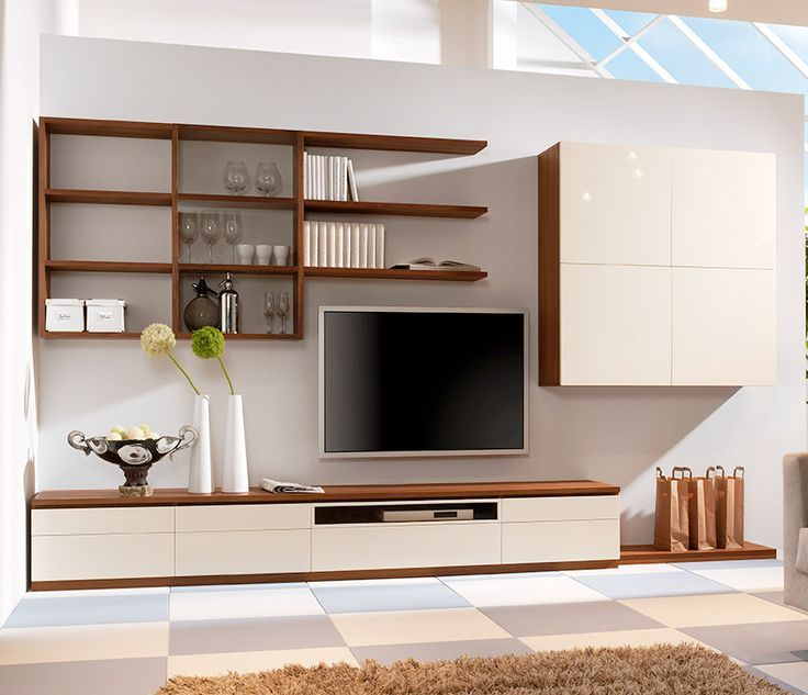 Stylish Modern Wall Units For Effective Storage. Living Room ...