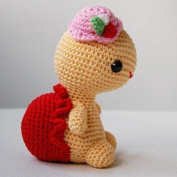 Patrón de amigurumi señorita tortuga por pepika en Etsy