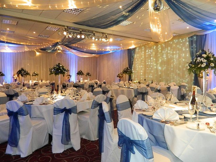 Navy Ivory Ceiling Swags With Pea Or Fairy Lights Www Partylinen Co