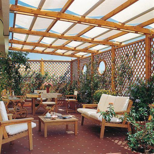 Las 25 mejores ideas sobre pergolas de madera en pinterest for Ideas para hacer un techo en el patio