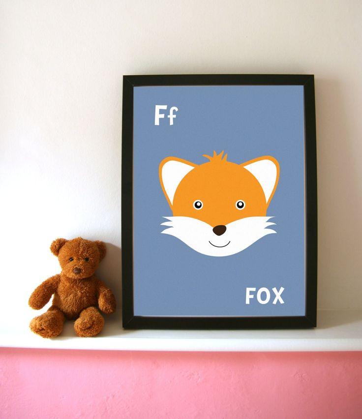 Nursery art / Fox print available at framestr.com