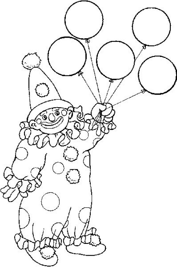 45 best coloring -clowns images on pinterest | clowns, digi stamps ... - Clown Balloons Coloring Page