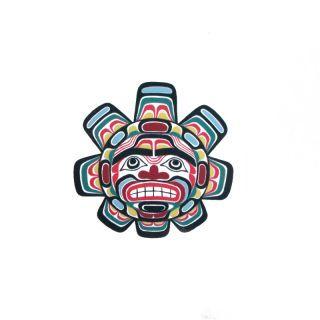 Pacific Northwest Native American Temporary Tattoo - Sun