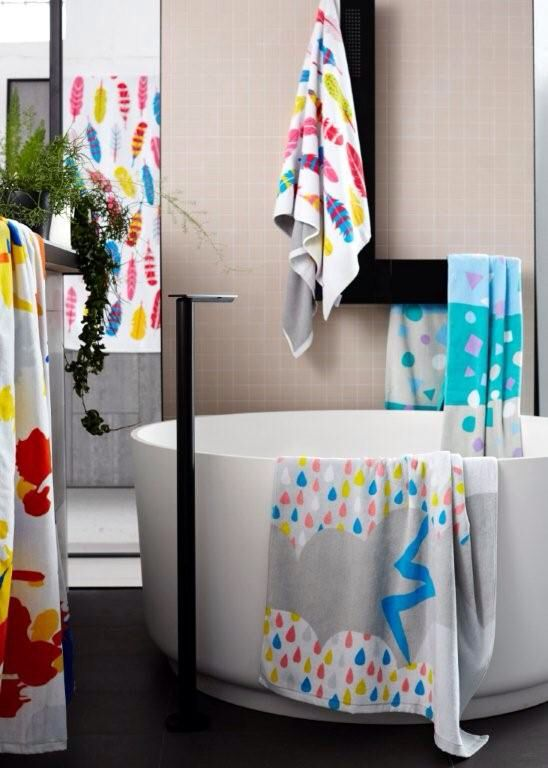 The launch range from Così Towels, artful bath towels for stylish bambini