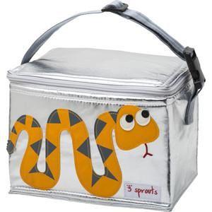 3 Sprouts Сумка для обеда Оранжевая змейка (Orange Snake SPR1005) (00004)  — 1599р.  Дополнительная информация  Сумки сделаны из материалов, не содержащих фталатов и свинца. Размер идеален для контейнеров, так что вы можете отправить детей в школу вместе с сытными закусками и обедами. В них еда не нагреется. Отмыть их чрезвычайно легко! Напишите на специальной бирке имя ребёнка! А при помощи удобной ручки можно прикреплять сумку к рюкзаку или другой сумке Информация с сайта производителя