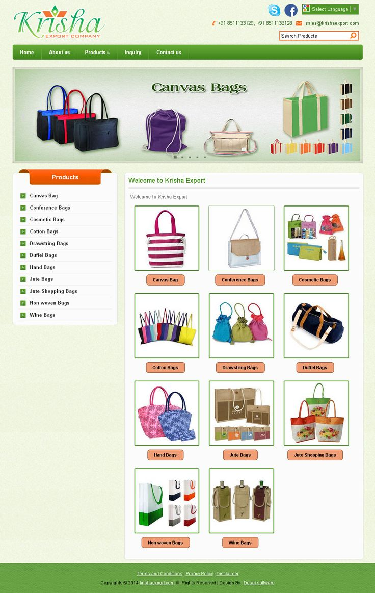 www.desaisoftware.com/General/GApplication.aspx?id=1  Responsive design view  Krisha Export Company is one of leading manufacturer and Exporters of wide range of Jute Bags, Jute shopping Bags, Jute promotional Bags, Jute fancy Bags, Cotton Bags, Canvas Bags.