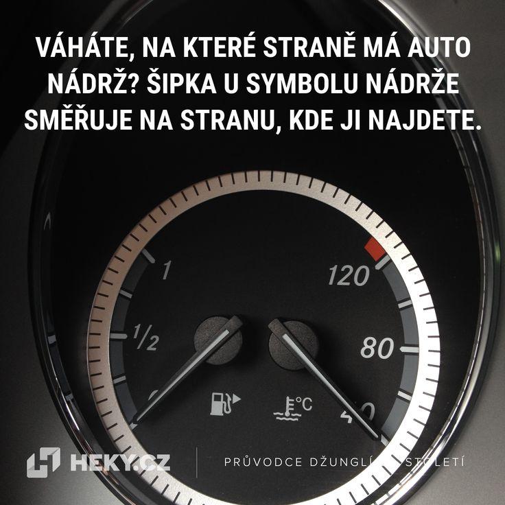 Na které straně má auto nádrž poznáte už za volantem – přímo na kontrolce