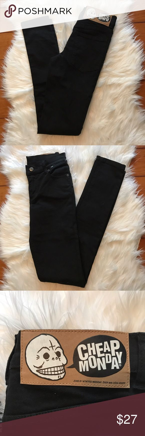 Cheap Monday Men's Skinny Jeans OD Black Tight These are in excellent condition! Cheap Monday Jeans Skinny