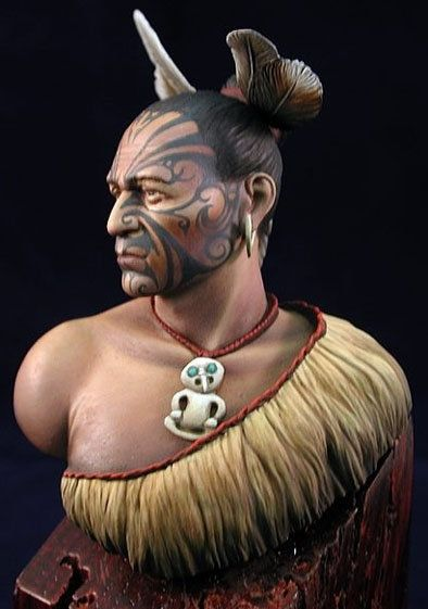 Maori Warrior painted by RobertRamirez