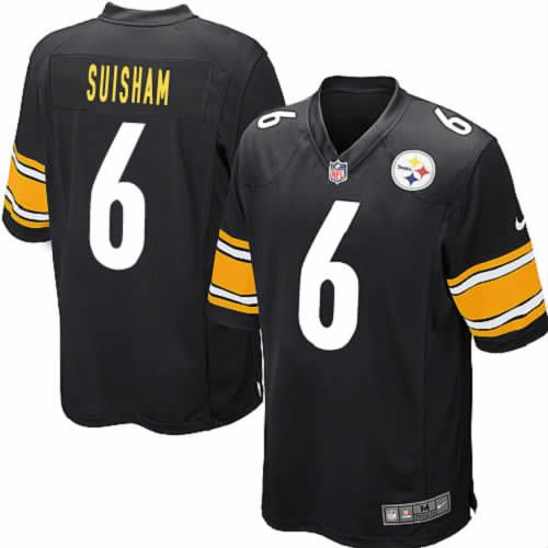 Elite Pittsburgh Steelers Shaun Suisham Black Youth Jersey #6 Nike NFL Jersey Sale