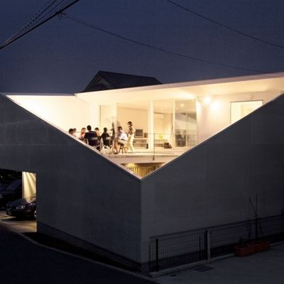 NO. 7752013. 02 02[archdaily] 사선절개가 특이한 프라이버시가 좋은 일본주택_House kn [패션인테리어...