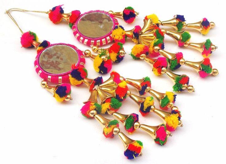 Multicolor Tassel Wedding Lehenga,Dress Blouses,Indian Embellishment Christmas 2