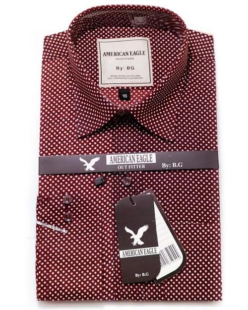 Buy American Eagle Mens Formal Shirt - Mens Polka Dotted Cotton Shirts Online in Karachi, Lahore, Islamabad, Pakistan, Rs.{{amount_no_decimals}}, Mens Shirts Online Shopping in Pakistan, Zara Man, Body Fit Shirts, branded, Branded Shirts, Casual Shirts, Classic Collar Shirts, Clothing, Color = Brown, Dress Shirts, Eid Collection Shirts, Export Stocklot, Full Sleeves Shirts, Men, Men Party Shirts, Polo Cotton Shirts, Shirts, Size = 15, Slim Fit Shirts, Spring Shirts, Standard Collar Shirts…