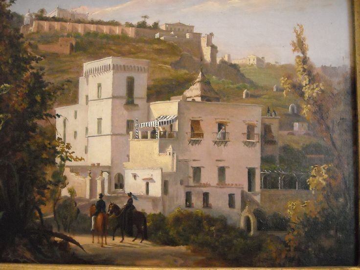 """Villa at Posillipo/Naples"" by Unknown about 1830 - Naples, San Martino Museum."