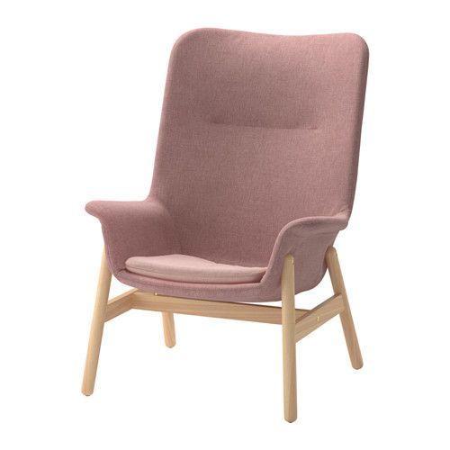 VEDBO Fåtölj med hög rygg - Gunnared ljus brunrosa - IKEA