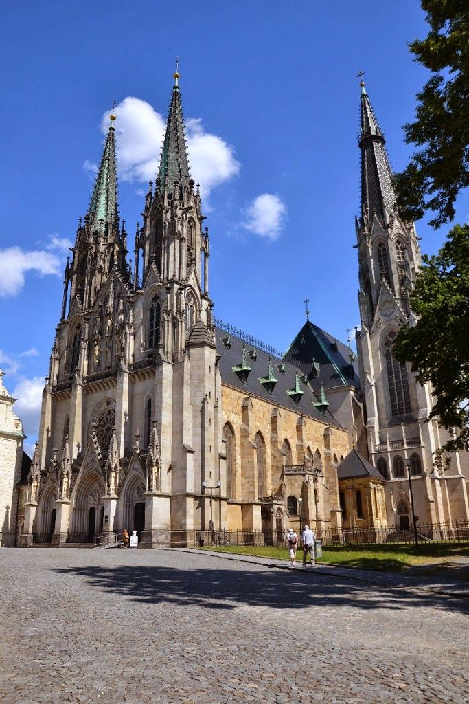 Cathedral of St.Wenceslas (Václav) in Olomouc (North Moravia) Czechia #Tchequie