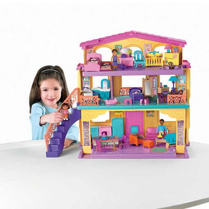 Dollhouse Furniture Discount Fisher Price Year Loving: Fisher-Price Playtime Together Dora & Me Dollhouse