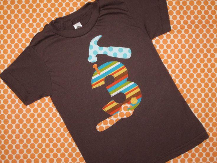 Tools Party Ideas: Mr. Fix It Tool Birthday Shirt. $27.00, via Etsy.