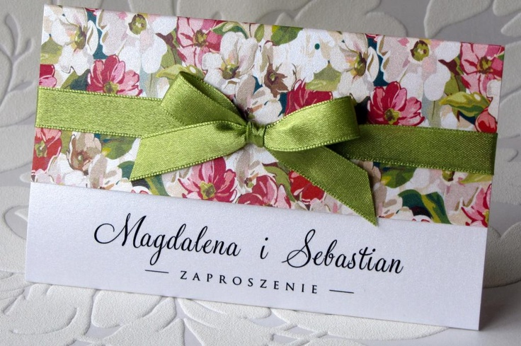 zaproszenia ślubne na ślub PERŁOWE kwiaty
