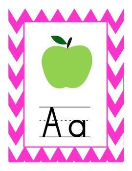 FREE Download! Chevron Alphabet Set    http://www.teacherspayteachers.com/Product/Chevron-Alphabet-Set#