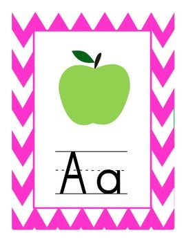 FREE Download! Chevron Alphabet Set    http://www.teacherspayteachers.com/Product/Chevron-Alphabet-Set#