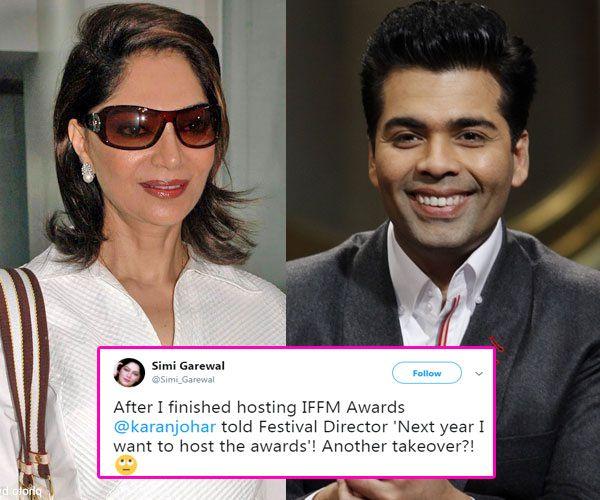 Is Simi Garewal afraid of losing Indian Film Festival of Melbourne to Karan Johar? #FansnStars