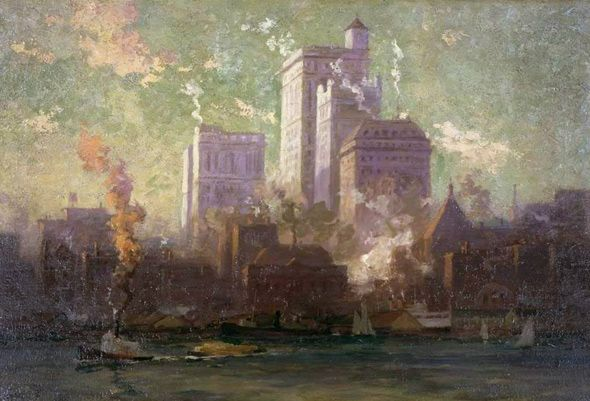 "Robert F. Gagen - ""Temples of Commerce"" 1914"