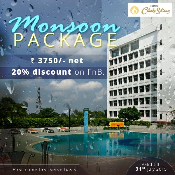 Exciting #Monsoon Packages are up for grabs! Hurry people & book now @3750 for a #lifetime #hospitality #experience. #Agra