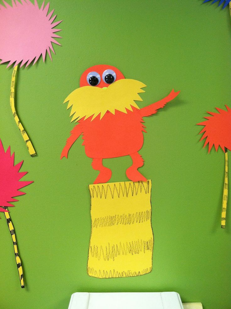 7 best craftslorax images on pinterest classroom ideas for Dr seuss crafts for preschool