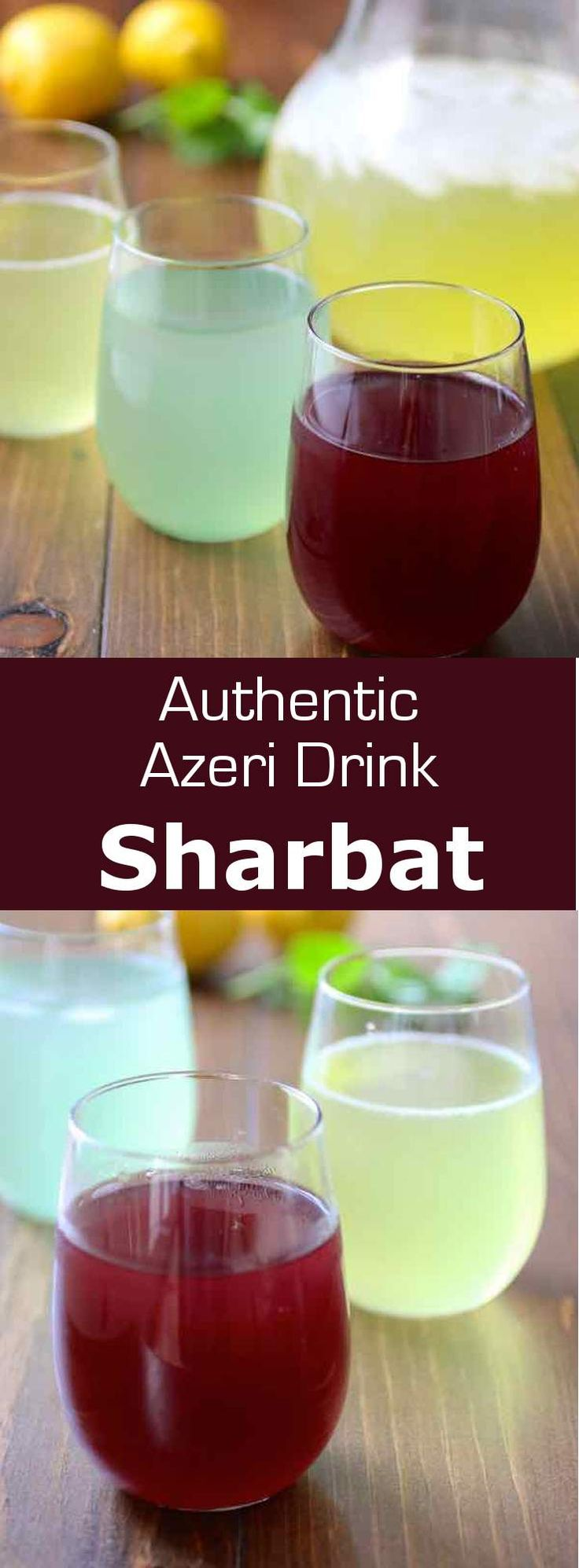 Sharbat or sherbet is a popular drink in Western and Southern Asia. It is typically prepared from fruits, herbs as well as flower petals. #azerbaijan…