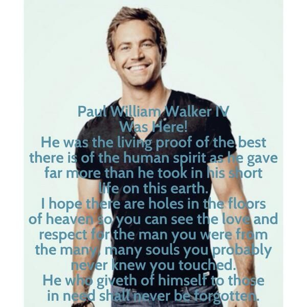 Okay no more of Paul Walker or I'm just going to feel sad. Last pic.