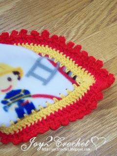 Joy 2 Crochet: Fleece Baby Blankets with Crocheted Edge