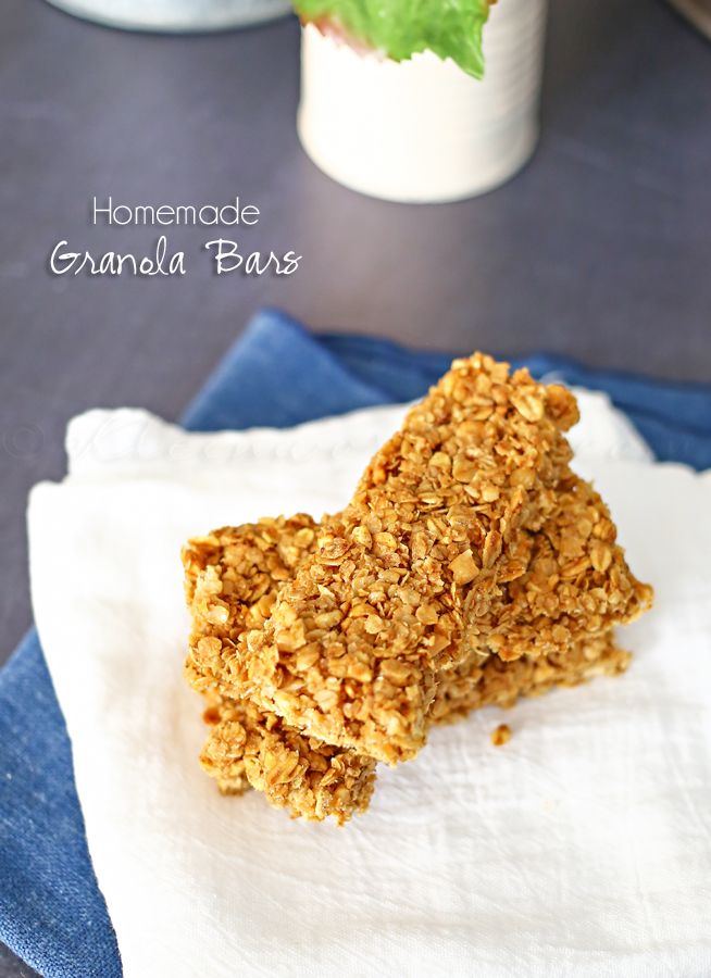 Homemade Granola Bars on kleinworthco.com