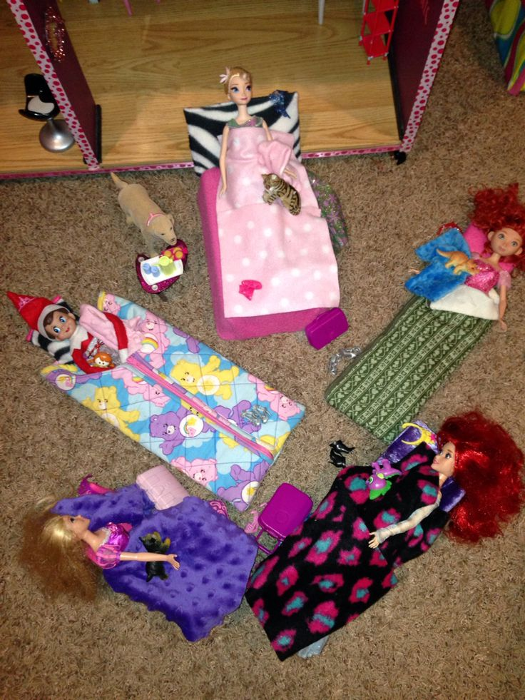 Christmas Slumber Party Ideas Part - 47: Peaches The Elf Slumber Party With Princesses! Elf On The Shelf.