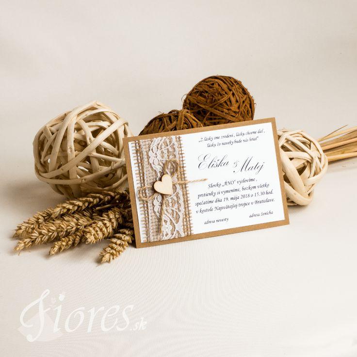 Zaujímavé a moderné vintage svadobné oznámenie pozdĺžneho tvaru. #weddingcard #wedding  #invitation #fiores #fioressk