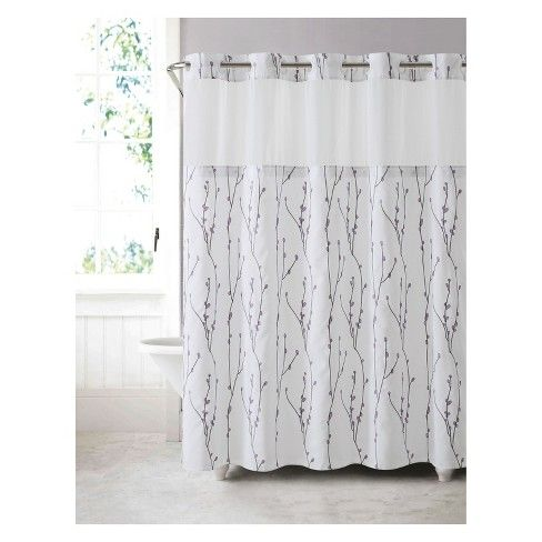 Cherry Bloom Shower Curtain With Liner Hookless Cool Shower