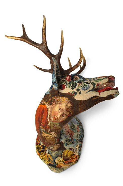 Tapestry taxidermy Frederique Morrel