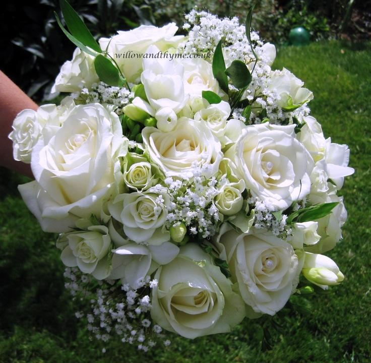 Classic White Brdides Bouquet