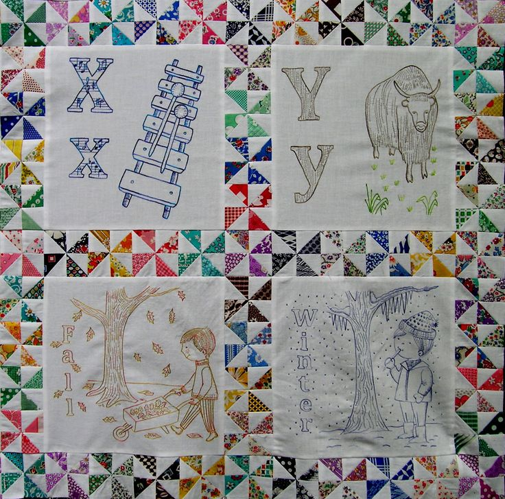 ABC hand embroidered quilt patterns- this is amazing!