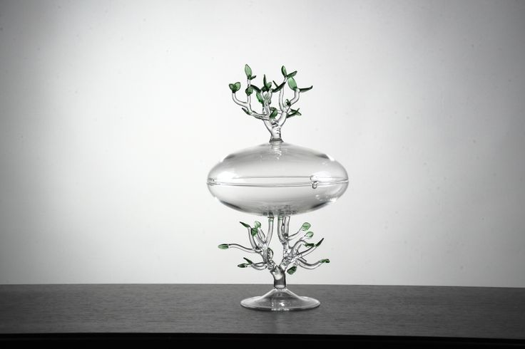 """Germogli"", 2014 -unique piece- diam. 20 cm - h. 36 cm #glass #handmade #objects #simonecrestani"