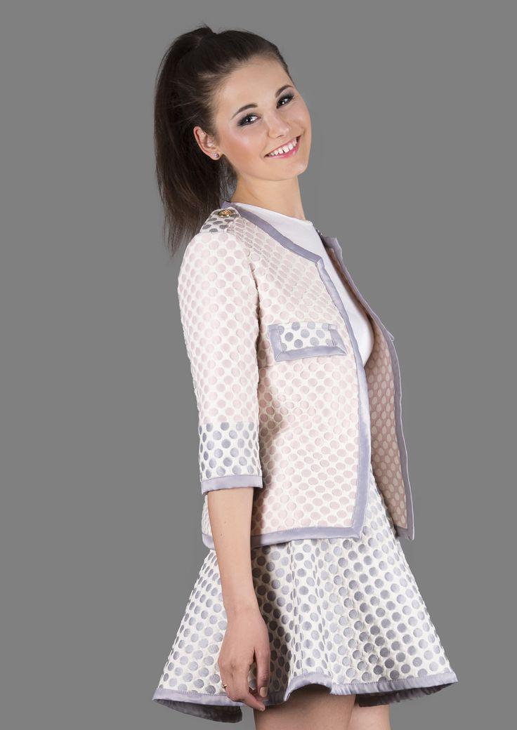 3D Pink Polka Dot Jacket